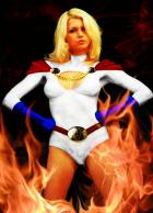 Powergirl On Fire!
