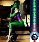 She-Hulk - improving her figure (if that's possible?)