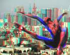 Get out your 3d glasses - spiderman by brick