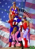 Captain America, Vagabond, Free Spirit and Diamondback