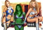 Marvel Friends - Invisible woman, she hulk and Emma Frost