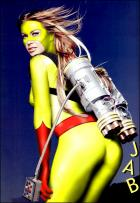 """Lift off!"" - Carmen Electra as Jet Girl"