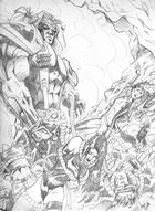Omega Red vs X-Men -- Sketch