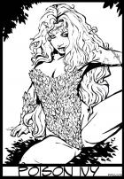 Poison Ivy Pinup (BW)