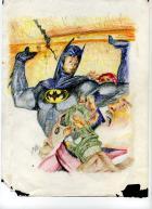 batman in colored pencils...
