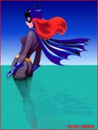 Batgirl Wading