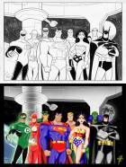 Justice League Unlimited colored by BRaZZZil