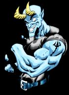 Cell shaded Blue Devil