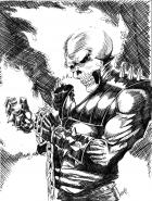 Ghost Rider B&W