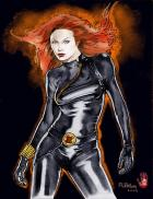 Black widow by Fleming colored by Redhand