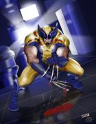 Wolverine Get New Duds by DarqueImages Coloured by CDA
