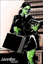 She hulk at work