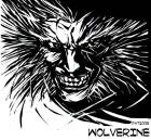 wolverine face in bw