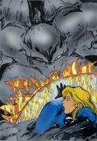 Dragonman Vs. Invisible Woman by NG - Colors by Webgeek