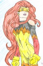 Firestar... alternate costume