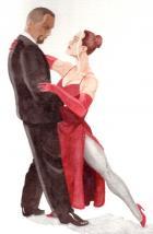 Rogue and Bishop dancing.