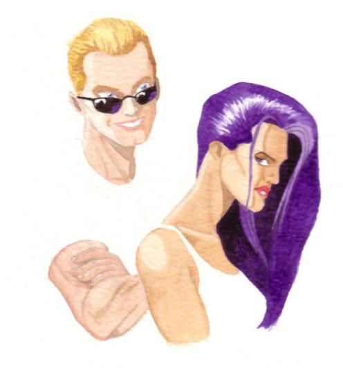 Havok & Psylocke pinup