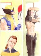 Astonishing X-Men watercolour