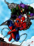 Spidey & Goblin, by Ubald, colored by Raddar