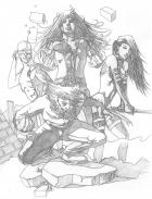 X-Men (cover concept) pencils