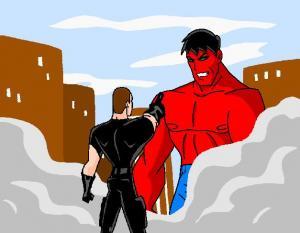 Zion Prime vs Red Hulk