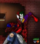 Heromorph draw off colors - Clown Symbiote of Crime w/Background by ContentKiller colors by Winter