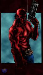 Hellboy By Shade Colored By Winterhawk