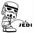 Peeing trooper
