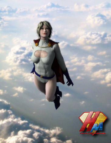 Powergirl for V4 bodysuit