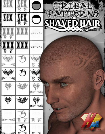 Designs Shaved Into Head Hair TRIBAL PATTERNS is free.