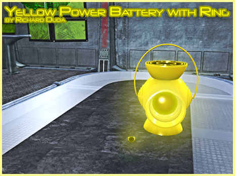 Yellow Power Ring & Battery