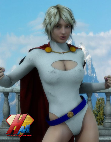 Powergirl for V4 Dynamic bodysuit